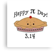 Adorable Happy Pi Day  3.14 Design Canvas Print