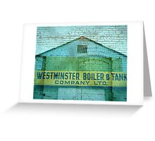 New Westminster Blue Collage Greeting Card