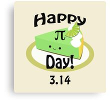 Cute Happy Pi Day! Canvas Print