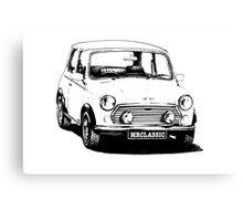1991 Rover Mini Cooper -White Color Canvas Print