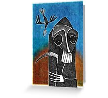 Death and the Raven Greeting Card