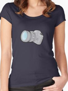 Canon 5DmkII Camera Women's Fitted Scoop T-Shirt