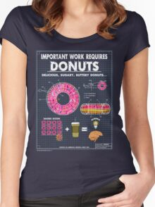 Donut Blueprint Women's Fitted Scoop T-Shirt