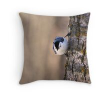 Nuthatch - Elk Island National Park Throw Pillow
