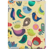 Cute Vintage Birds Seamless Pattern iPad Case/Skin