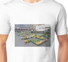 Preparing for the street market, Brussels, Belgium Unisex T-Shirt