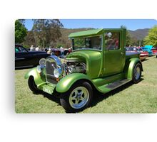 Pearly Green Machine Canvas Print