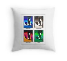 anime eyes Throw Pillow
