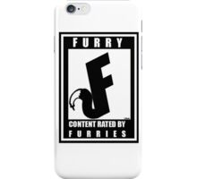 Rated F for Furries iPhone Case/Skin
