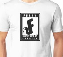 Rated F for Furries Unisex T-Shirt