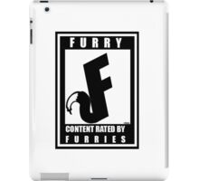 Rated F for Furries iPad Case/Skin