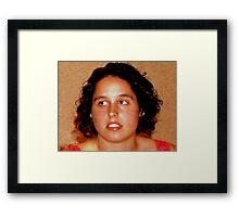 Fabulous freckles Framed Print