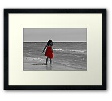 The Red Sundress Framed Print