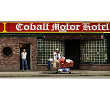 Cobalt Hotel Photographic Print