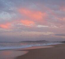 Twilight's cascade of sky and cloud. Winter, Wooli beach. by Sunshineshelle