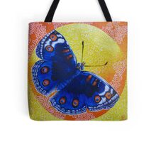 Butterfly Encircled Within a Square Acrylic Painting  Tote Bag