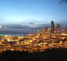 Seattle at Night by Karen Fahey