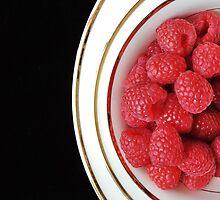 Raspberry Plates by Karen Fahey