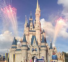 Cinderella Castle ft. Fireworks and Friends by abuehrle