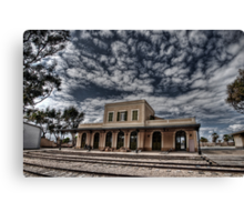 Tel Aviv, The Old Railway Station: the haunted station house Canvas Print