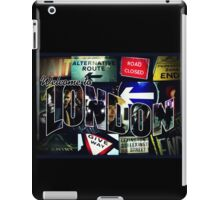 Welcome To London - Sherlock Version #3 iPad Case/Skin