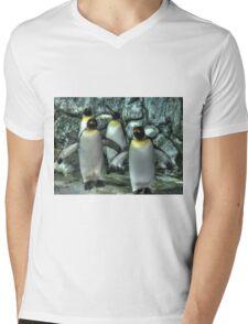 Four Penguins Mens V-Neck T-Shirt
