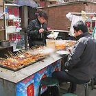 Street food, Business District, Beijing, China by Philip Mitchell