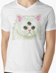 Cyber Cat Mens V-Neck T-Shirt