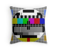 Colour Bars Throw Pillow