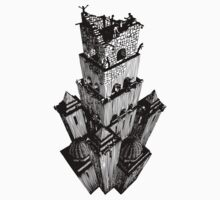 Escher Style - Tower of Babel by waxmonger