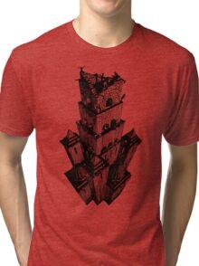Escher Style - Tower of Babel Tri-blend T-Shirt