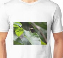 Yellow And Black Butterfly Unisex T-Shirt