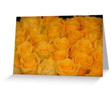 Gold Petals of Sunshine Greeting Card