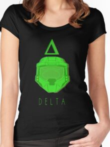 Red Versus Blue | Project Freelancer: Delta Women's Fitted Scoop T-Shirt