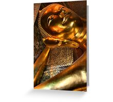 The Reclining Buddha, Wat Pho, Bangkok, Thailand  Greeting Card