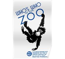 Who's Who In The Zoo -- Vintage WPA Poster