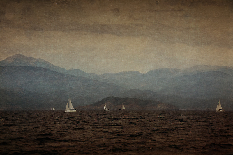 Vintage Sailing On The Mediterranean Coast by Josh Wentz