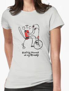 Riding around on my Rooney Womens Fitted T-Shirt