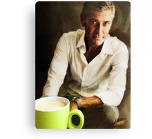 Coffee with George.... Canvas Print