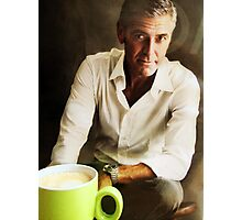 Coffee with George.... Photographic Print