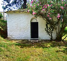 SMALL LOCAL GREEK ORTHORDOX CHURCH.THASSOS.GREECE. by ronsaunders47