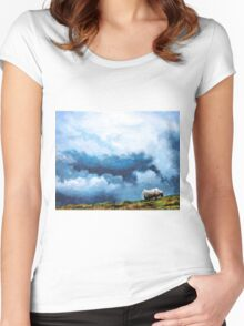 Dunkeld Landscape 1 Women's Fitted Scoop T-Shirt