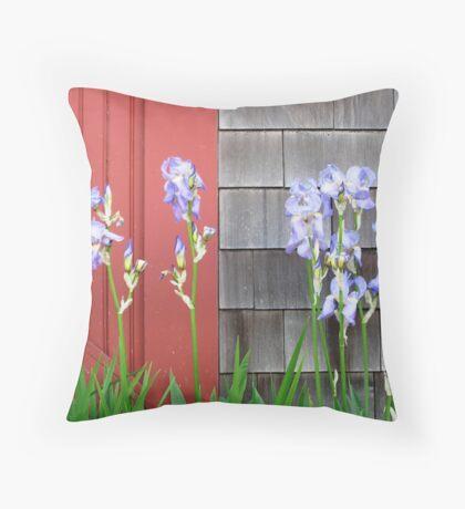 Weeks Boatyard Iris Patch Throw Pillow