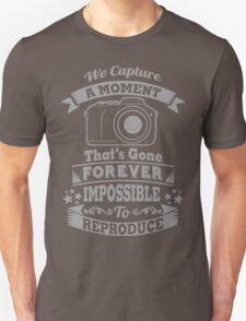 photography photographer t-shirt Unisex T-Shirt