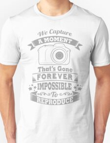 photography photographer t-shirt Unisex T-Shirt