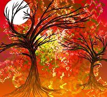 Colour tree scene. by Grant Wilson