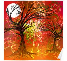 Colour tree scene. Poster