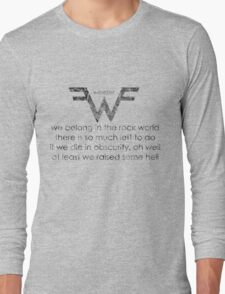 Words Of The Rock Gods Long Sleeve T-Shirt