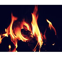 Gaze Into The Flames Photographic Print
