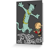 The Will and Lying Cat- SAGA / Calvin and Hobbes cross-over Greeting Card